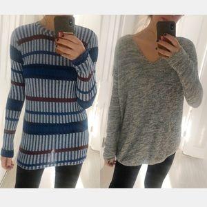 2 Piece Size M Long Sweater Bundle Zara  H&M